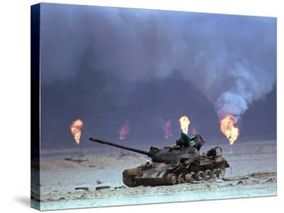 Gulf War Iraqi Tank-David Longstreath-Stretched Canvas Print