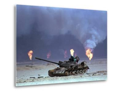 Gulf War Iraqi Tank-David Longstreath-Metal Print