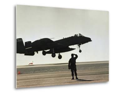 Saudi Arabia Army U.S. Forces A10 Warthog Attack Plane Kuwait Crisis--Metal Print