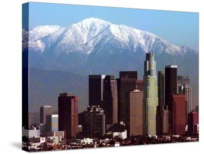 Los Angeles Mount Baldy-Nick Ut-Stretched Canvas Print