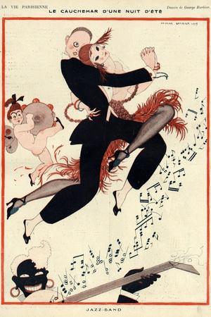 La Vie Parisienne, G Barbier, 1919, France--Stretched Canvas Print