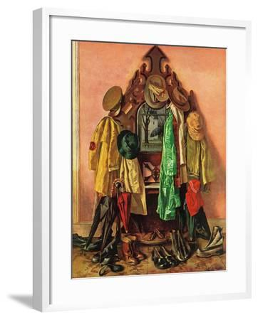 """Loaded Coat Rack"", April 14, 1945-John Atherton-Framed Giclee Print"