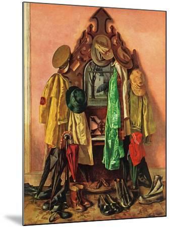 """Loaded Coat Rack"", April 14, 1945-John Atherton-Mounted Giclee Print"
