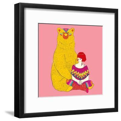 Daemon-Diela Maharanie-Framed Art Print