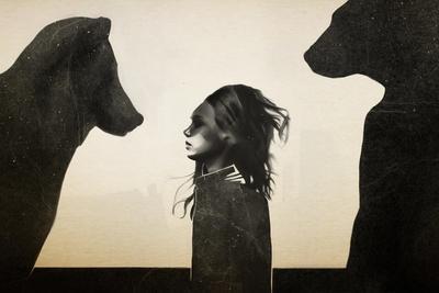 Unusual Encounter-Ruben Ireland-Stretched Canvas Print
