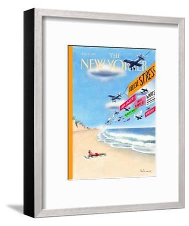 The New Yorker Cover - July 14, 1997-Ian Falconer-Framed Premium Giclee Print