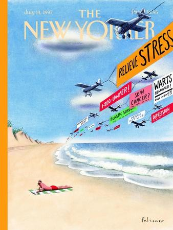 The New Yorker Cover - July 14, 1997-Ian Falconer-Stretched Canvas Print