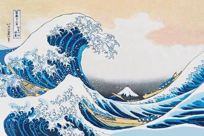 The Great Wave Off Kanagawa-Katsushika Hokusai-Stretched Canvas Print