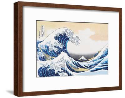 The Great Wave Off Kanagawa-Katsushika Hokusai-Framed Art Print