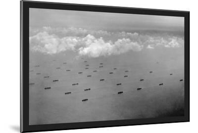 Convoy at Sea-U^S^ Gov'T Navy-Mounted Art Print