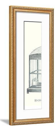 Ornate Black Bird Cage C--Framed Art Print