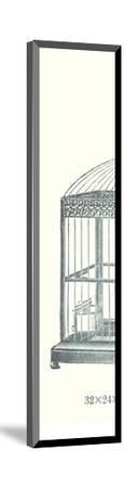 Ornate Black Bird Cage C--Mounted Art Print