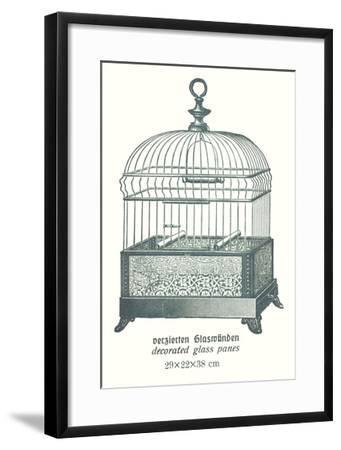 Ornate Green Bird Cage B--Framed Art Print