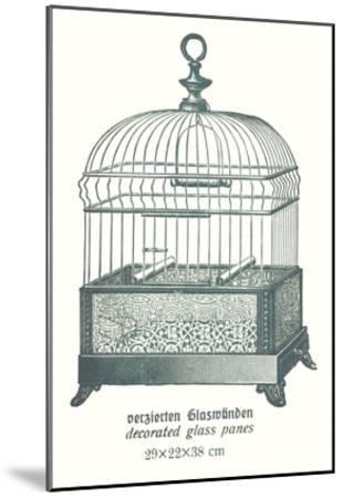 Ornate Green Bird Cage B--Mounted Art Print