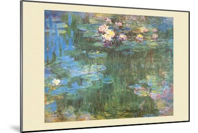 Waterlilies, 1918-Claude Monet-Mounted Art Print