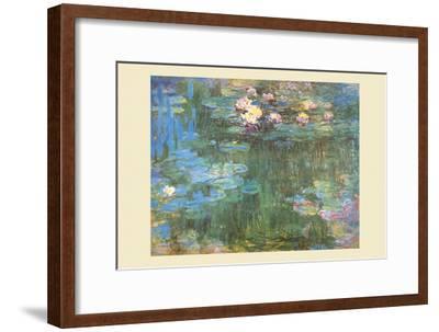 Waterlilies, 1918-Claude Monet-Framed Art Print