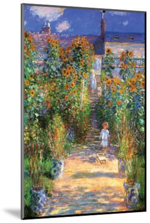 The Artist's Garden at Vetheuil-Claude Monet-Mounted Art Print