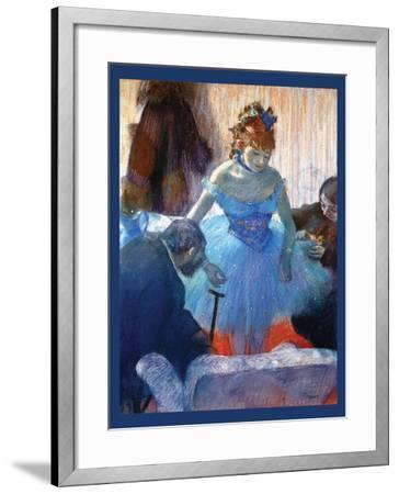Ballerina Changing-Edgar Degas-Framed Art Print