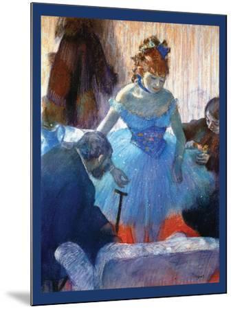 Ballerina Changing-Edgar Degas-Mounted Art Print
