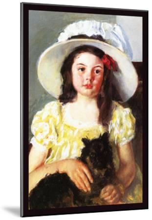 Francoise with a Black Dog-Mary Cassatt-Mounted Art Print