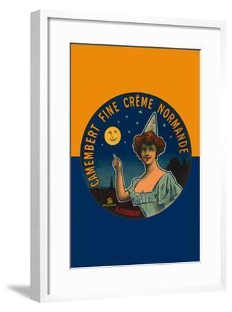 Camembert Fine Creme Normande- L. Poly-Framed Art Print