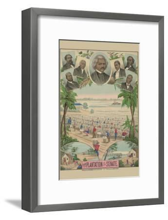 From the Plantation to the Senate--Framed Art Print