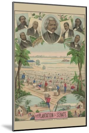 From the Plantation to the Senate--Mounted Art Print
