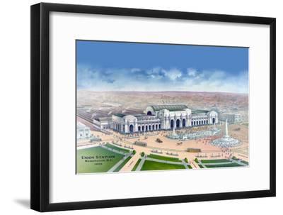 Union Station - Washington, D.C. 1906--Framed Art Print