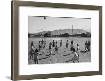 Vollyball-Ansel Adams-Framed Art Print