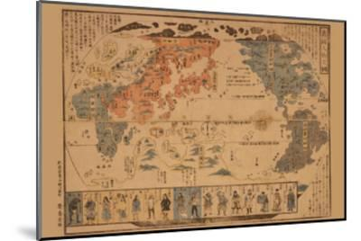 Japanese Map of the World; People of Many Nations--Mounted Art Print