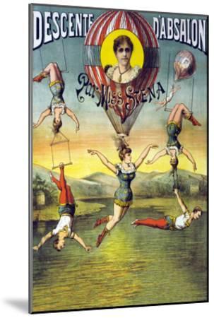 French Balloon Circus Poster--Mounted Art Print