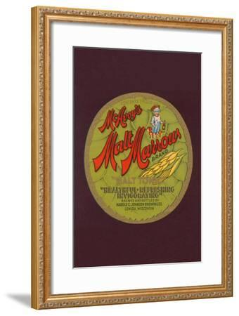 "Mcavoy's Malt Marrows ""Malt Tonic""--Framed Art Print"
