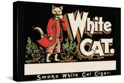 White Cat Brand Cigars--Stretched Canvas Print