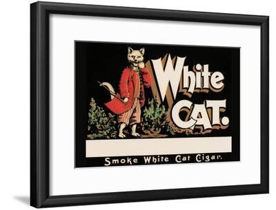 White Cat Brand Cigars--Framed Art Print