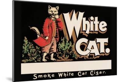 White Cat Brand Cigars--Mounted Art Print