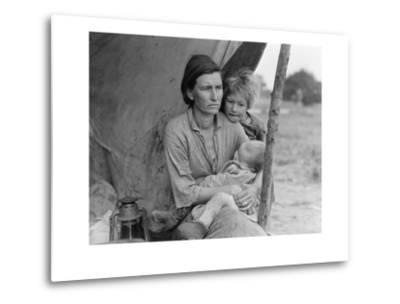 Migrant Agricultural Worker's Family-Dorothea Lange-Metal Print