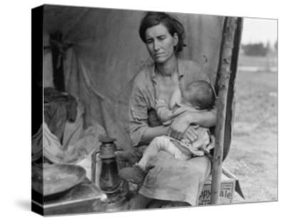 Migrant Agricultural Worker's Family-Dorothea Lange-Stretched Canvas Print