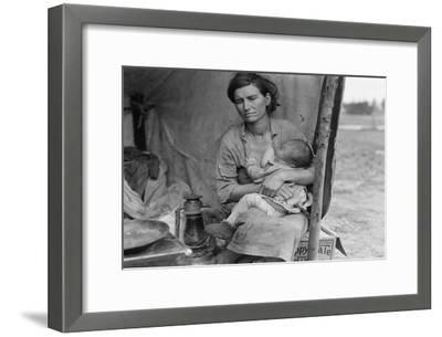 Migrant Agricultural Worker's Family-Dorothea Lange-Framed Art Print