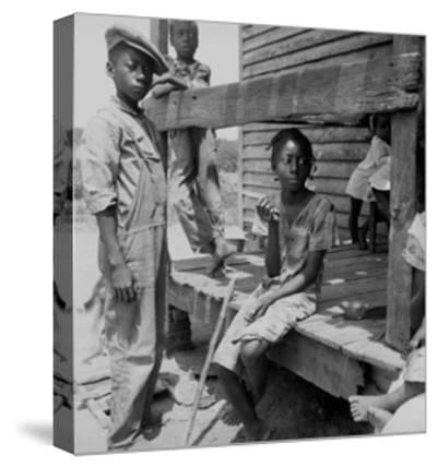 Mississippi Delta Negro Children-Dorothea Lange-Stretched Canvas Print