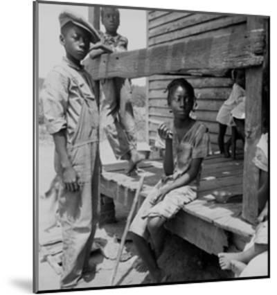 Mississippi Delta Negro Children-Dorothea Lange-Mounted Art Print