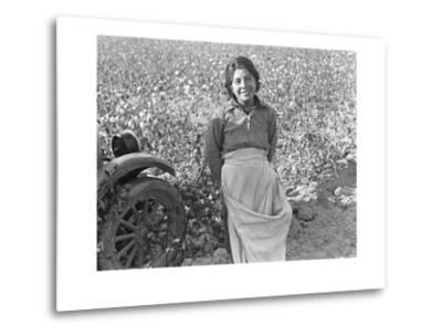 Cotton Picker-Dorothea Lange-Metal Print