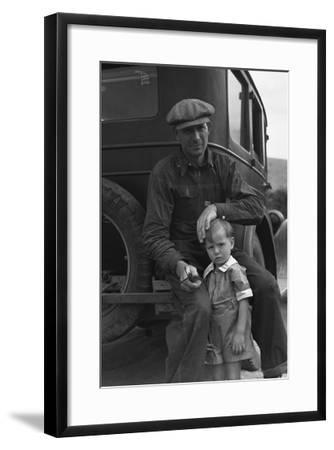 1936 Drought Refugee-Dorothea Lange-Framed Art Print