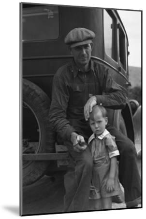 1936 Drought Refugee-Dorothea Lange-Mounted Art Print