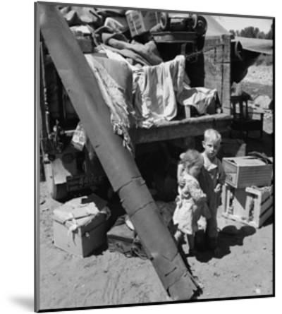 "Migratory Children Living in ""Rambler's Park.""-Dorothea Lange-Mounted Art Print"
