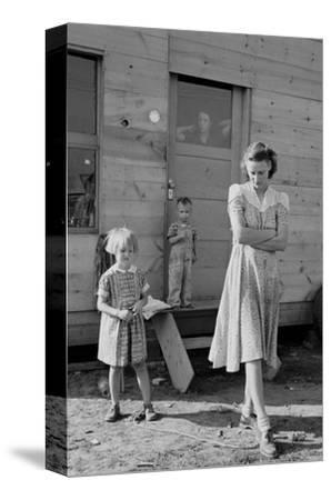 Migrant Mother and Children-Dorothea Lange-Stretched Canvas Print