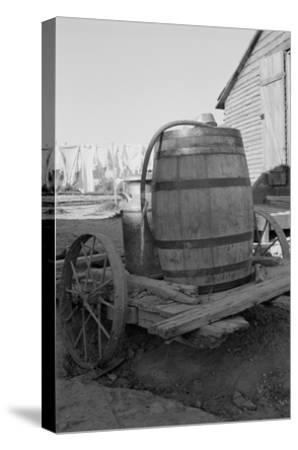Water Barrel-Dorothea Lange-Stretched Canvas Print