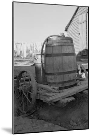 Water Barrel-Dorothea Lange-Mounted Art Print