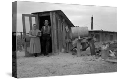 Basement Home-Dorothea Lange-Stretched Canvas Print