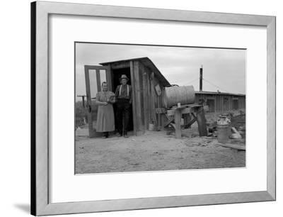 Basement Home-Dorothea Lange-Framed Art Print