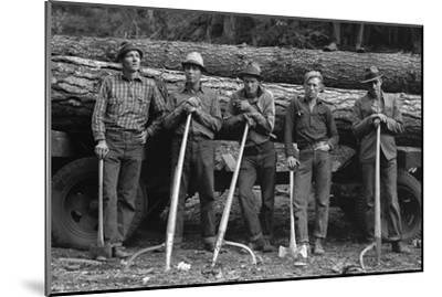 Self-Help Sawmill Workers-Dorothea Lange-Mounted Art Print